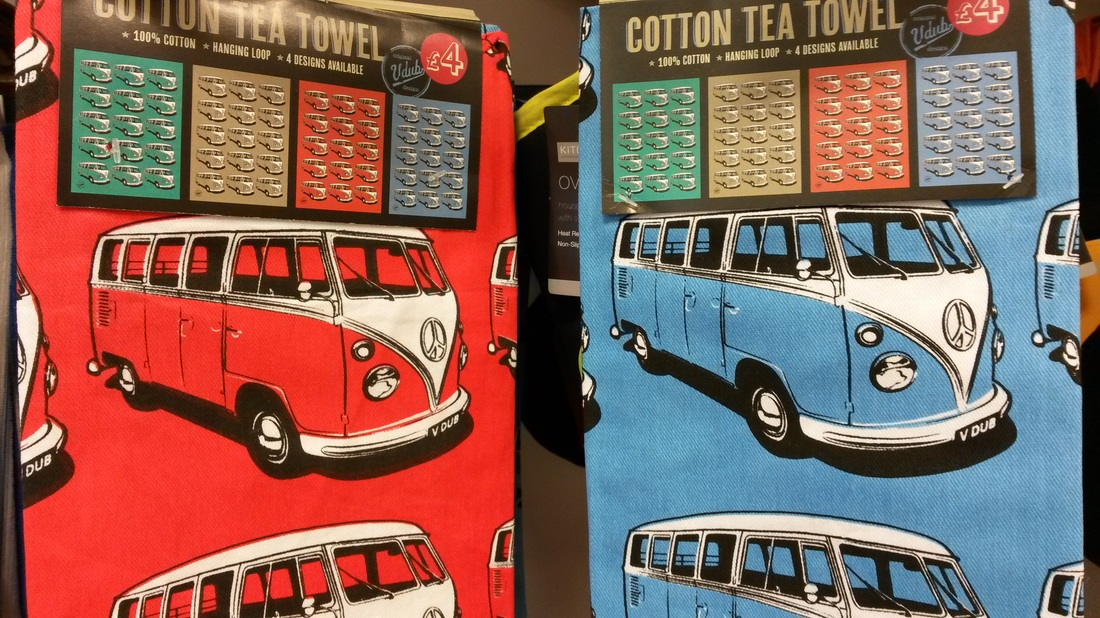 V DUB CAMPERVAN TEA TOWELS